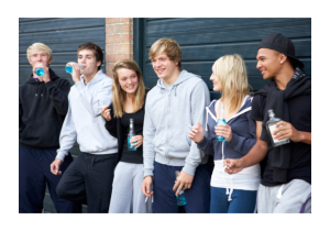 group of teenager drinking and smoking